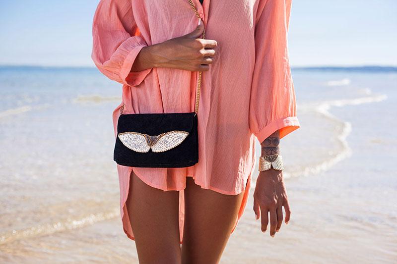 Bag and bracelet by Nahua